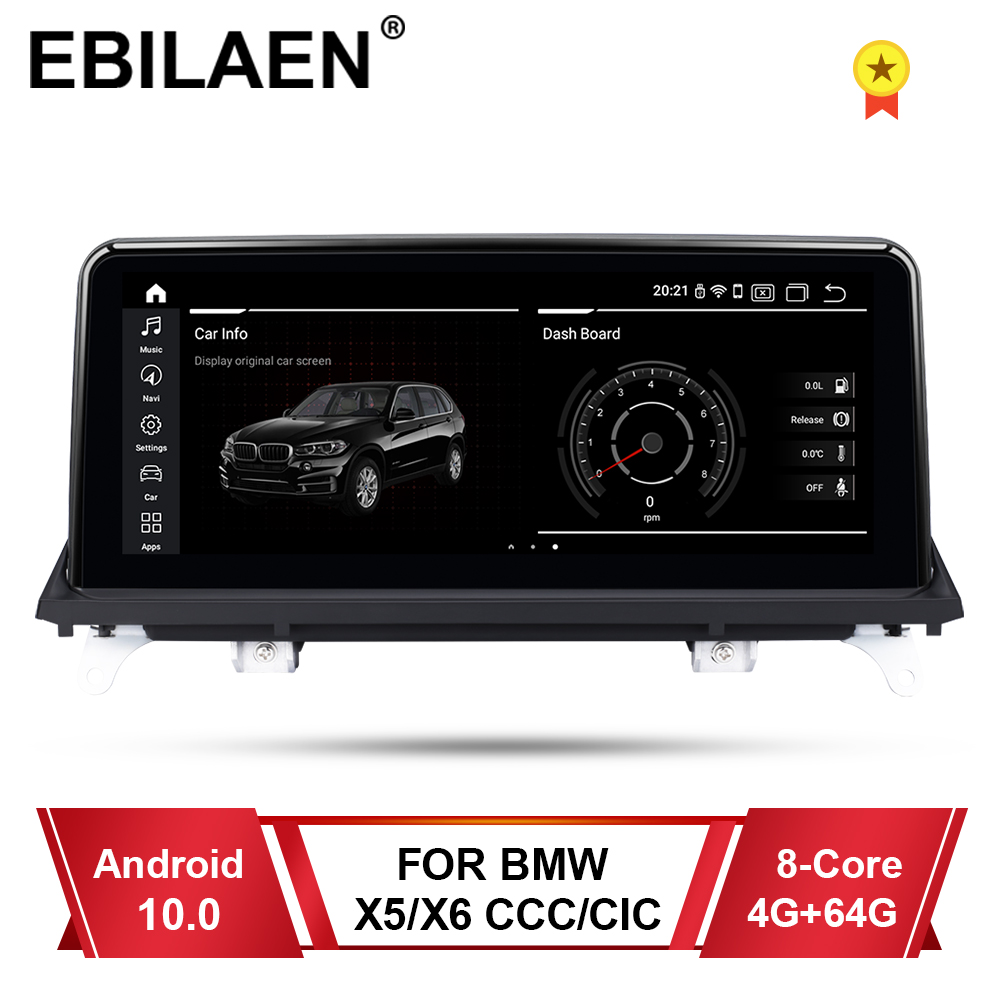 EBILAEN Android 10.0 Car Multimedia Player for <font><b>BMW</b></font> X5 <font><b>E70</b></font>/X6 E71 (2007-2013) CCC/CIC System Unit PC Navigation Autoradio IPS 4G image