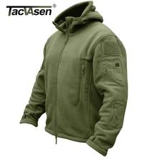 TACVASEN Winter Airsoft Military Jacket Men Fleece Tactical Jacket Thermal Hooded Jacket Coat Autumn Outerwear Mens Clothing 3XL