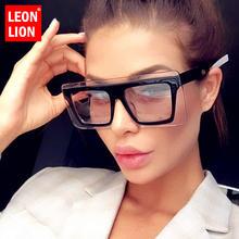 Женские квадратные солнцезащитные очки leonlion Винтажные Солнцезащитные