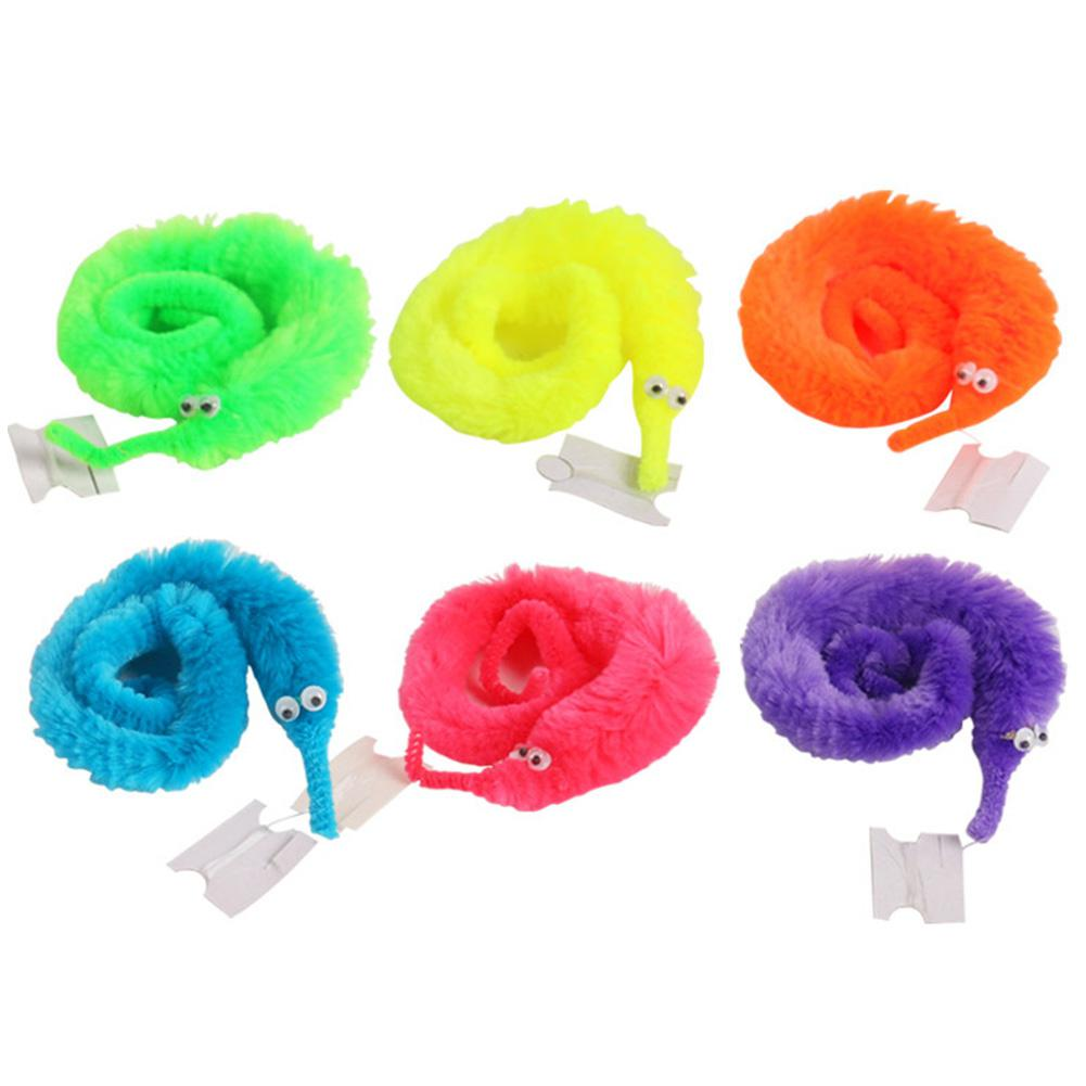 100 Pcs Magic Caterpillar Worm Hippocampus Worm Twtisty Worm Twisted Worm Toy Random Color