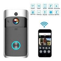 Inteligente wi fi campainha câmera ip vídeo porteiro telefone da porta de vídeo campainha para apartamentos ir alarme sem fio câmera segurança|Interfone com câmera| |  -