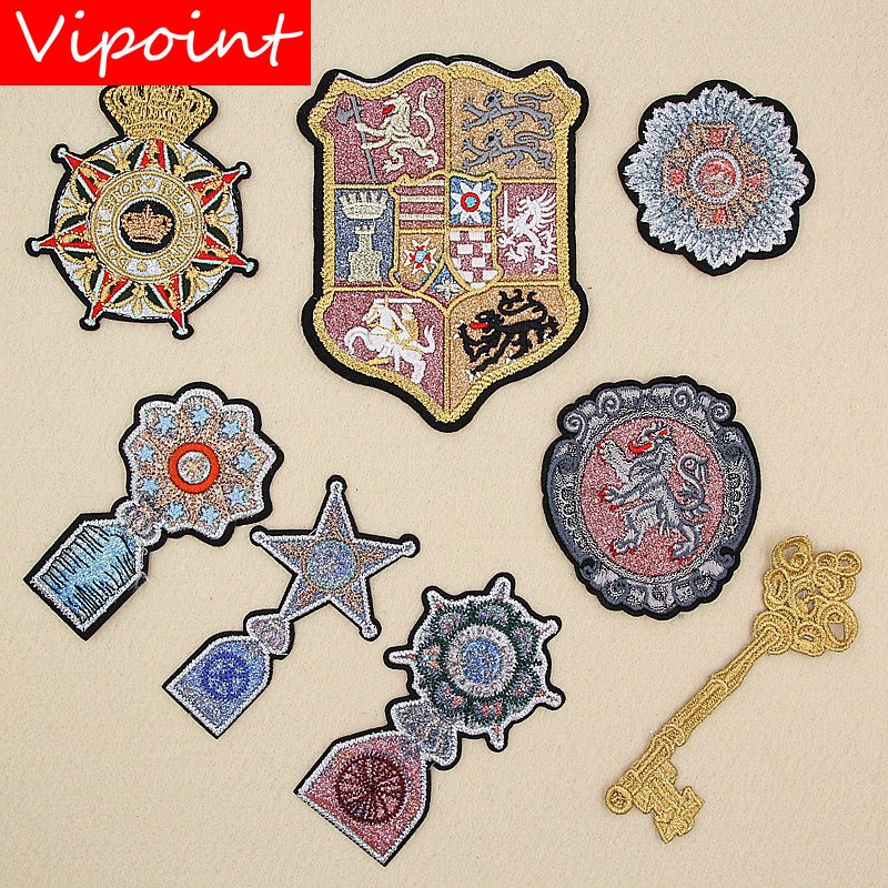 VIPOINT embroidery college patches army patches badges applique patches for clothing XW-117