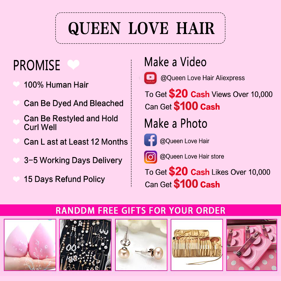 Queen Love Straight Hair Bundles With Closure Non-Remy Hair Extension Brazilian Hair Weave Bundles 30 Inch Bundles With Closure