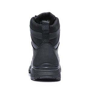 Image 4 - الجمل الشتاء أحذية رجالي الدافئة جلد طبيعي المشي في الهواء الطلق الرجال الأحذية عدم الانزلاق لينة الرجال القطن الثلوج الأحذية للماء