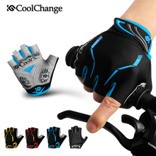 Купить с кэшбэком CoolChange Half Finger Cycling Gloves Mens Women's Summer Sports Bike Gloves  Nylon Mountain Bicycle Gloves Guantes Ciclismo