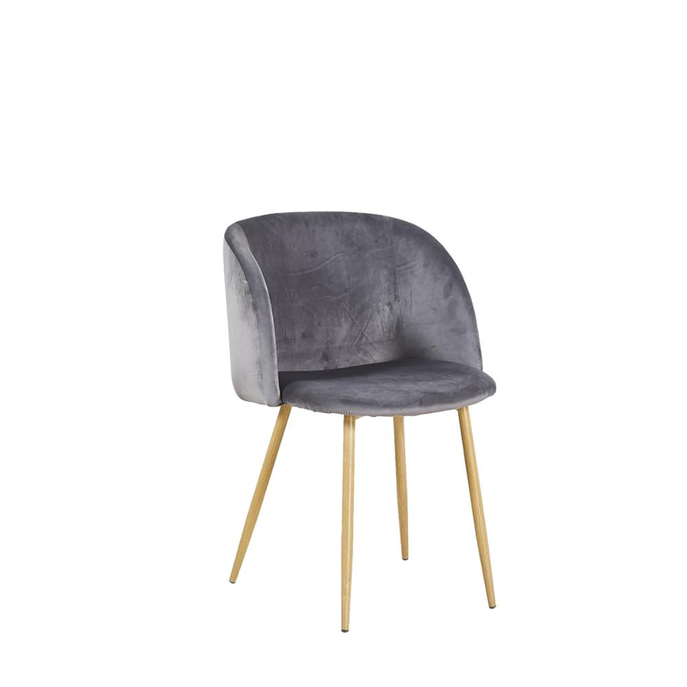 EGGREE Aloe Velvet Leisure Chair For Dining Room, Bedroom And Living Room - Grey - 2-8days EU Warehouse