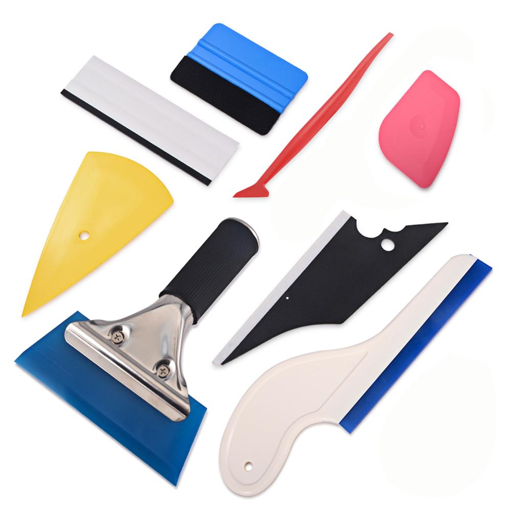 FOSHIO Window Tint Tool Kit Vinyl Car Wrap Stickers Tool Set Auto Car Accessories Carbon Foil Tinting Squeegee Film Application