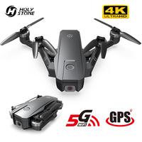 Holy Stone-Drone de radiocontrol 5G con cámara 4K y GPS, drone cuadricóptero de control remoto con wifi, vídeo en directo, FPV, motores sin escobillas, 26 minutos de vuelo, 400m alcance, bolsa, HS720
