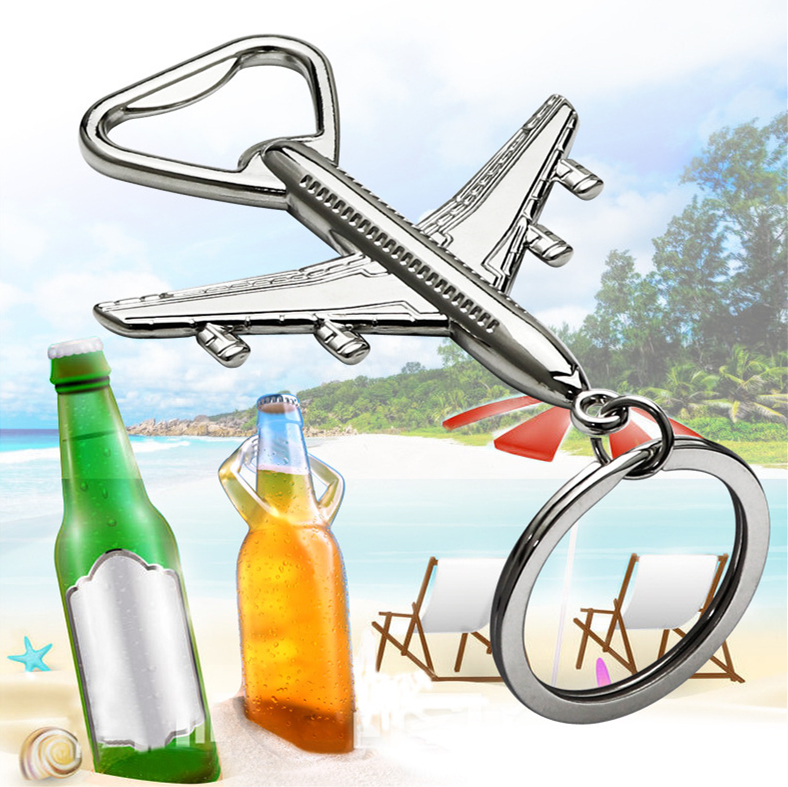 Mini Airplane Bottle Opener Protable Plane Shape Beer Opener Wedding Xmas Gift Party Favors Kitchen Aluminum Alloy Openers image