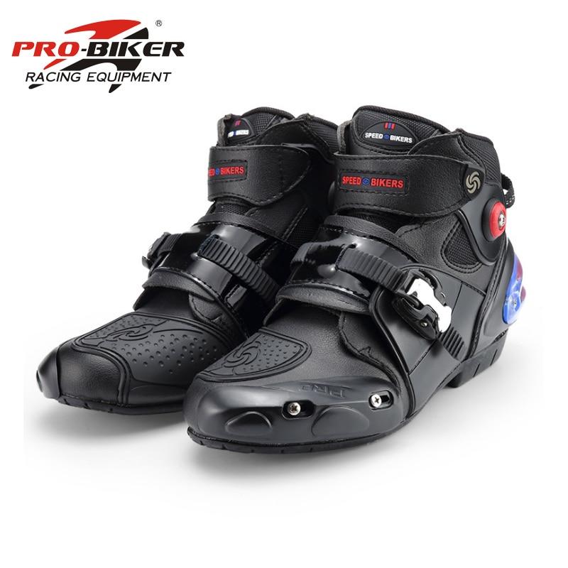 Pro-biker professional motorcycle boots men racing motorbike boots botas motorcycles moto riding shoes Size 40-45 black A9003