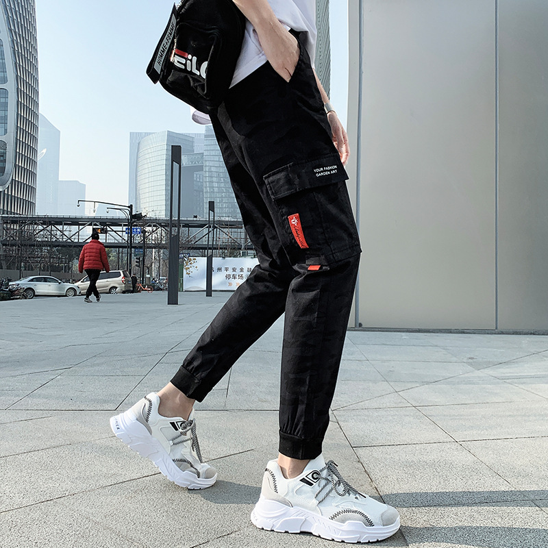 Sports Bib Overall Men's 2019 Spring And Summer New Style Comfortable Versatile Fashion Men'S Wear Pure Cotton Pants Elasticity