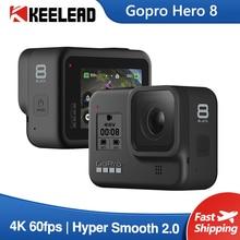מקורי Gopro גיבור 8 שחור עמיד למים פעולה מצלמה 4K Ultra HD וידאו 12MP תמונות 1080p הזרמה ללכת פרו Hero8 ספורט מצלמת