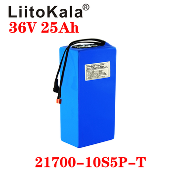 LiitoKala 21700 36V 15ah 20ah 25ah 30ah battery 21700 battery pack 500W high power battery 42v20ahEbike electric bicycle BMS image