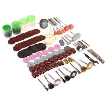 цена на 161pc Rotary Tool Accessory Attachment Set Kit Grinding Sanding Polishing Sander Abrasive Wood Drill for Dremel Electric Grinder