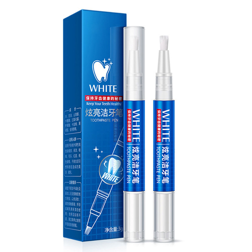 Teeth Whitening Pen Cleaning Serum Plaque Stains Remover Teeth Bleachment Dental Whitener Oral Hygiene Care Teeth Whitener 3ml