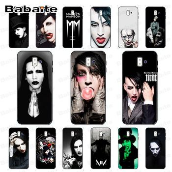 coque for galaxy A50 Marilyn Manson Phone Case cover Shell For samsung Galaxy j6 plus A6 A8 A9 A10 A70 A50 Mobile Cases image