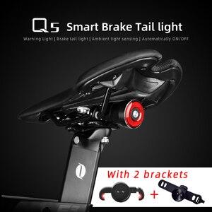 Cycling Taillight Bicycle Flashlight MTB Bike Rear Light Auto Start/Stop Brake Sensing IPX6 Waterproof LED Charging Safety Warm(China)
