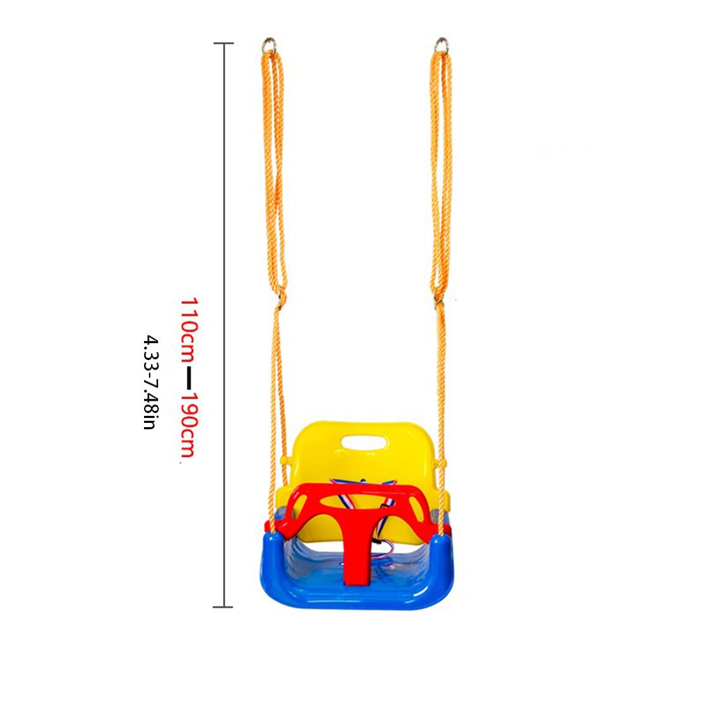 Купить с кэшбэком Indoor Outdoor Safe Healthy Swing For Kids Toys for Children Baby Low Back PE Plastic Basket Fun Crazy Games Leisure Time