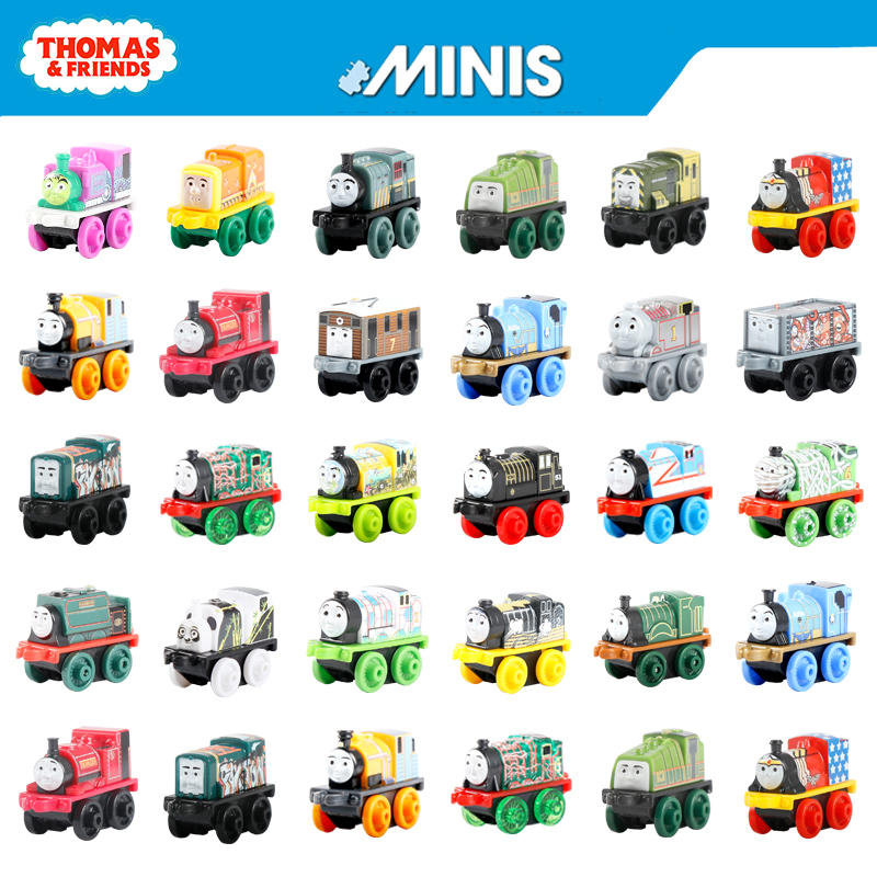 Original Thomas And Friend Mini Train Model Locomotive Car Kids Toys For Children Diecast Brinquedos Education Birthday Gift Set