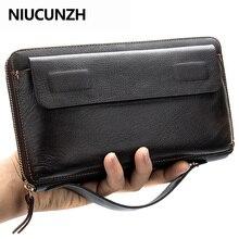 NIUCUNZH Men Clutch Bag Large Capacity Men Wallets Cell Phon