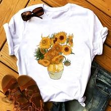 Van Gogh T Shirt 100% Cotton Sunflower Vangogh Vintage Art S