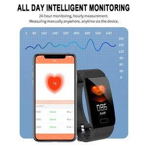 Image 3 - Sport krokomierz inteligentna bransoletka Monitor ciśnienia krwi Smartband Tracker snu Bluetooth przypomnienie informacji Pulsera Inteligente