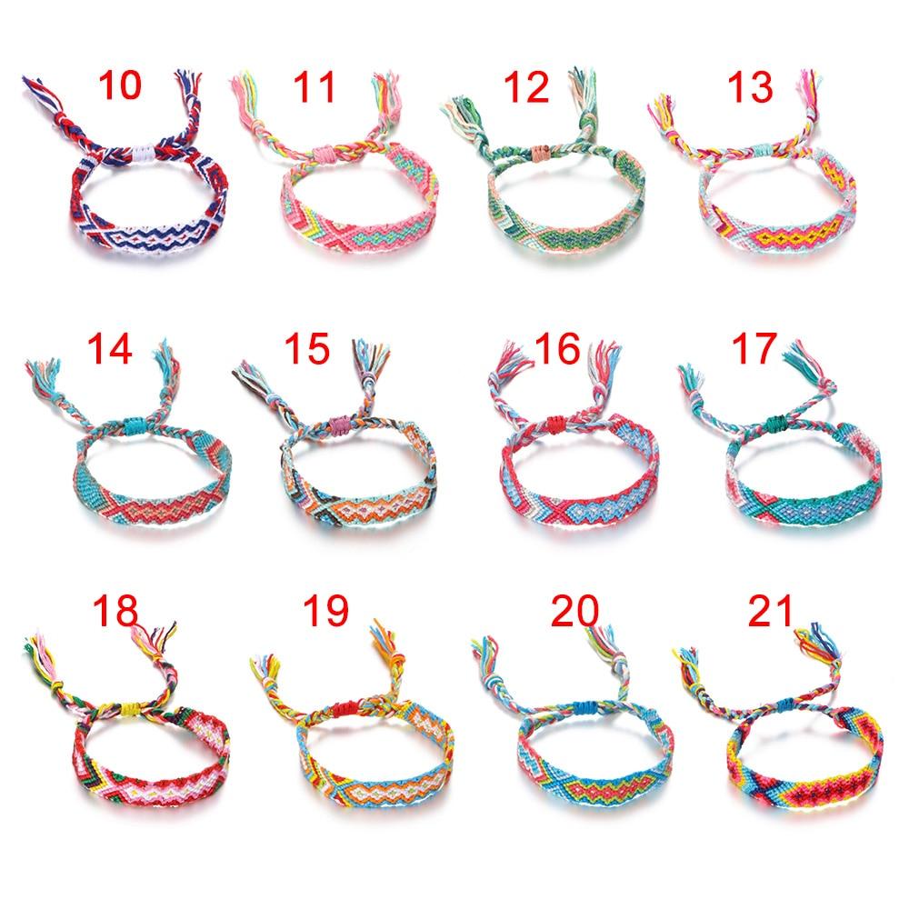 Charm Cotton Handmade Bracelet & Bangles Ethnic Jewelry Gifts New Bohemia Style Weave Rope Friendship Bracelets For Woman Men