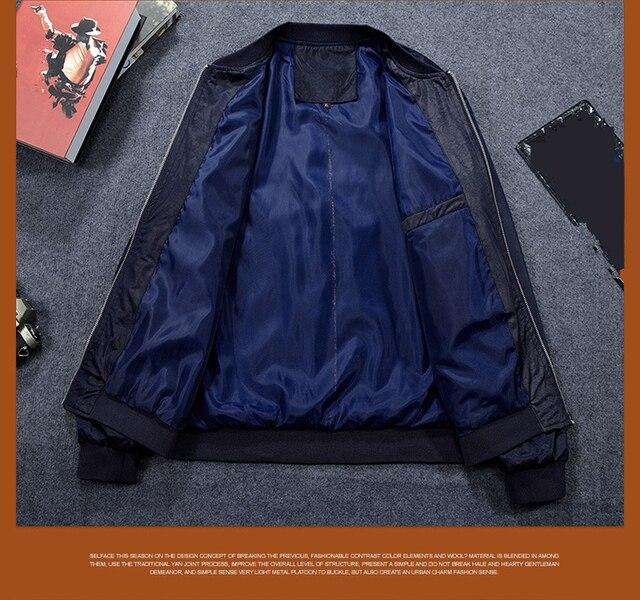 MRMT-veste bombardier pour hommes, manteau de Baseball, de couleur unie, mince, 2018