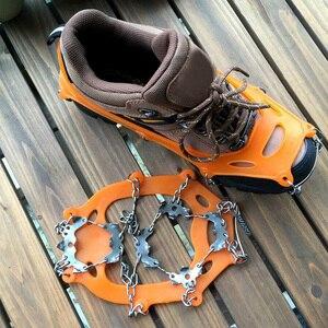 Image 5 - COPOZZ Outdoor Climbing Anti slip Crampons Winter Walk 19 Teeth Ice Fishing Snowshoes Hiking Skiing Steel Slip Shoe Covers