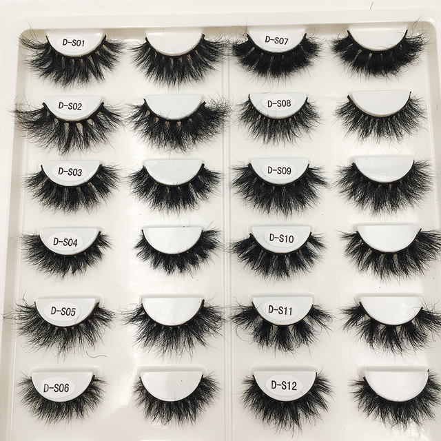 RED SIREN Lashes Mink Eyelashes Real Mink Hair Fluffy Messy Soft Natural Lashes Makeup 3d Mink Lashes 6