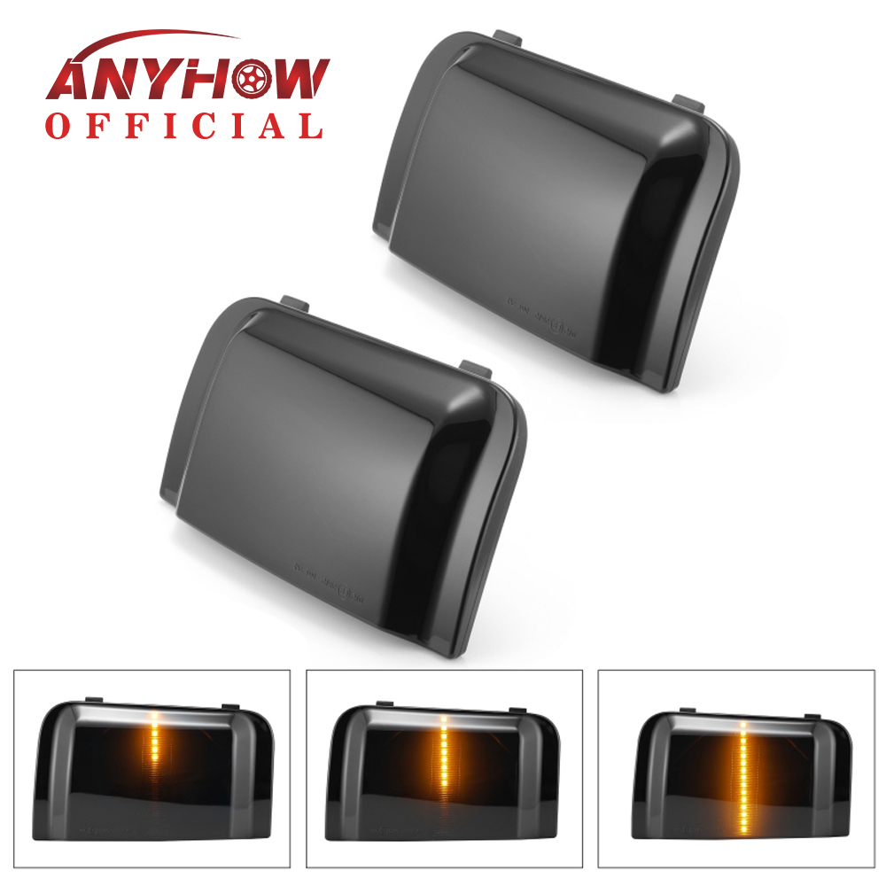 ANYHOW2X For Fiat Ducato Citroen Jumper Truck Box Professional Car Rearview Mirror Streamer Light For Peugeot Boxer Smoked Shell