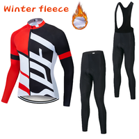 2019 Winter Thermal Fleece Cycling Jersey Long Sleeves Warm Ropa Ciclismo Maillot MTB Bicycle Clothing Bike Clothe