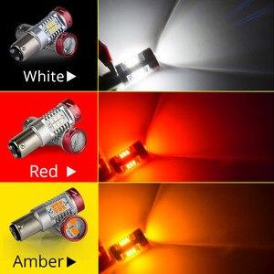 NAO P21W светодиодный PY21W BA15S T20 W21/5W W16W T15 7443 для LADA DRL P21/5W 1300LM автомобильный светильник лампа 7440 BAY15D W21W 1157 Красный Белый 1156