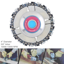 4 Inch 22 Tooth Durable Angle Grinder Chain Tray Disc Cutter Wood Grooved Saw Blade Woodworking Chain Grinder Chain Disc