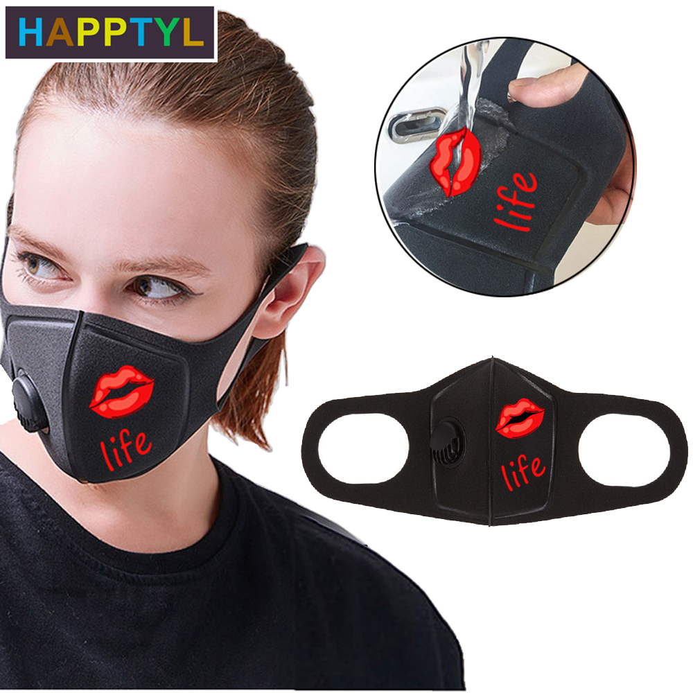 HAPPTYL Respiratory Dust Mask Upgraded Version Men & Women Anti-fog Haze Dust Pm2.5 Pollen 3D Cropped Breathable Mouth Mask