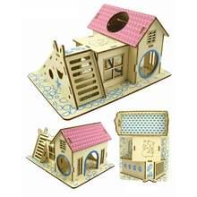 Деревянный домик для домашних животных стильный с крышкой аксессуары