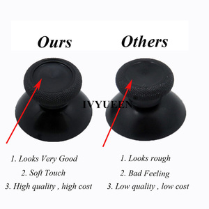 Image 2 - IVYUEEN 100 PCS Black Gray Analog Stick Cap For PlayStation 4 PS4 Pro Slim Controller Thumb Grip Cover for XBOX 360 ONE Joystick