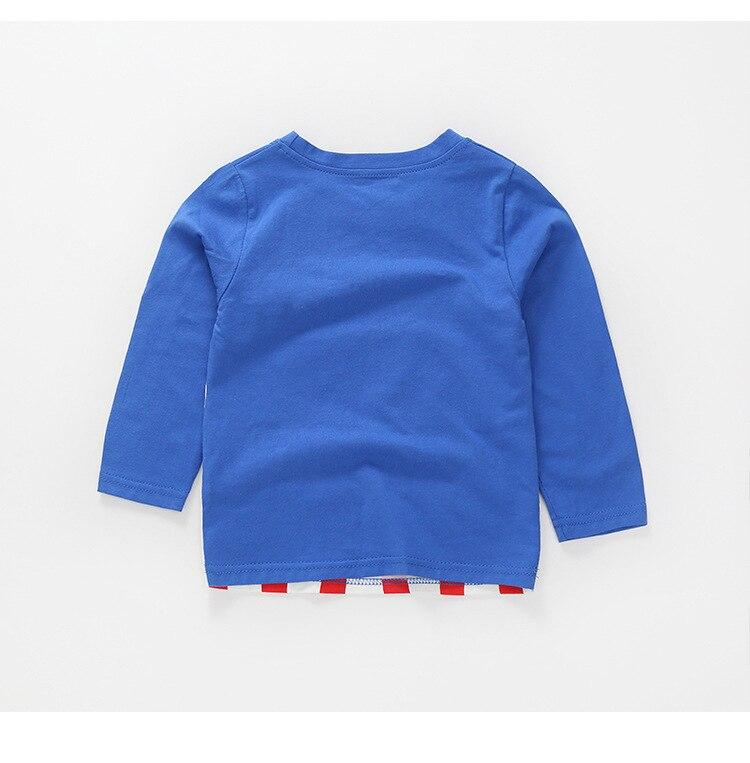 New Spring Boys Girls Cartoon Cotton T Shirts Children Tees Boy Girl Long Sleeve T Shirts Kids Tops Brand Baby Clothes 12M-8Y 42