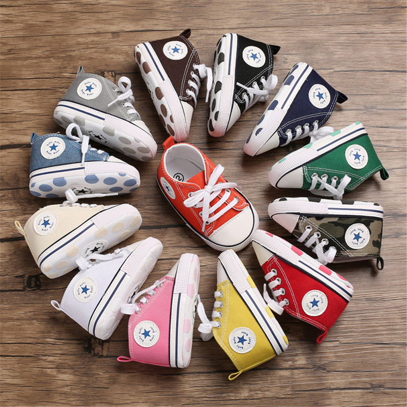 Baby Shoes Boy Girl New Colors Canvas Sneaker Cotton Comfort Breathable Newborn Infant First Walkers Toddler Crib Shoes