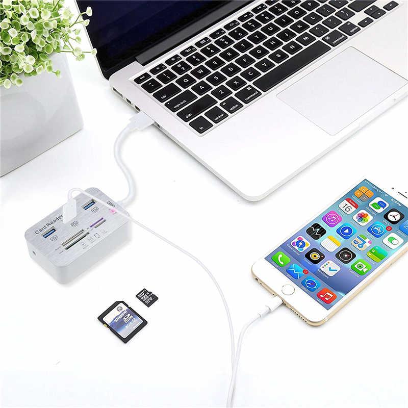 สูงความเร็วสูง 3 พอร์ต USB 3.0 HUB Multiport SD TF Card Reader USB Splitter สำหรับ MacBook Pro Air คอมพิวเตอร์ PC แล็ปท็อปอุปกรณ์เสริม
