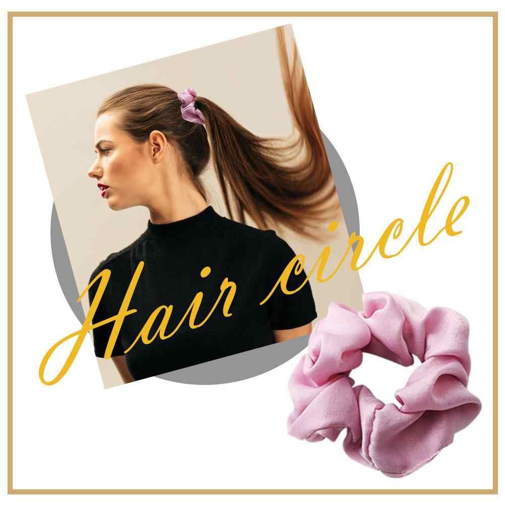 Donne Anelli di Capelli Panno di Raso Scrunchies Coda di Cavallo Holder Hairband (Stile 3)