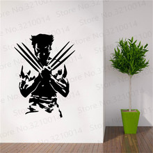 Wolverine Super Hero Wall Decal For Kids  Bedroom Sticker Removable Mural Decoration  bedroom removable wall Decals PW283 цена 2017