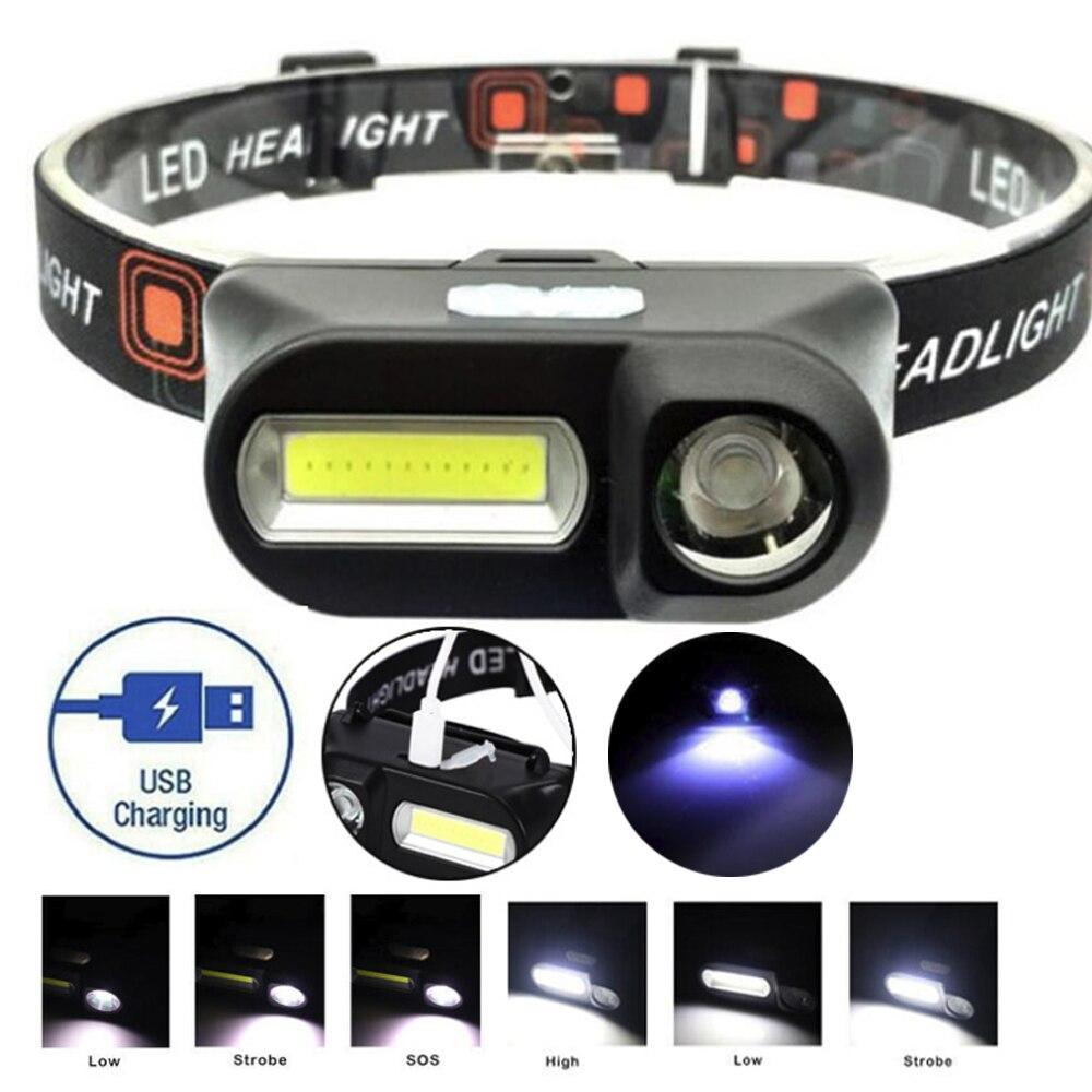Mini Flashlight Fishing Light XPE+ COB ABS Black LED Travel Outdoor Camping Reading Lighting Built-in 18650 Battery Work Light