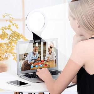 Image 5 - XJ31S anillo de luz LED regulable maquillaje Selfie anillo de luz de relleno giratorio transmisión en directo iluminación fotográfica
