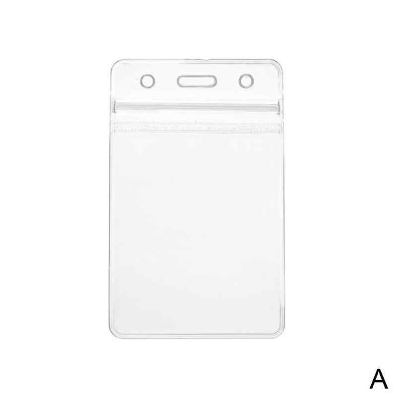 Nhựa PVC Trong Suốt Tác Phẩm Tên Đựng Thẻ Kinh Doanh Làm Túi Đựng Thẻ 8 Cm X 10.5 Cm Thẻ Bảo Vệ Thiếp Ví bao Da Ốp Lưng PoC C0E3