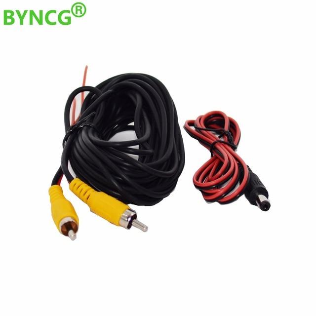 BYNCG 2018 kabel wideo RCA do samochodu kamera cofania z trybem parkingowym kamera tylna podłącz Monitor kabel wyzwalacza DVD 6M 12M 15M 20M opcjonalnie