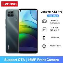Lenovo K12 Pro Android 10 Smartphone 6.8 ''Snapdragon 662 Octa Core 6000mAh 64MP AI Triple Kamera 4GB RAM 64GB ROM Handys