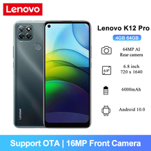 Lenovo K12-Pro Android-10 Smartphone 64GB 4gbb Octa Core Fingerprint Recognition 64MP