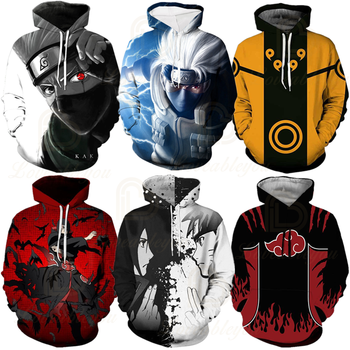 Hot Anime Naruto Hoodies Men Women Winter pullovers 3D Hooded Oversized Sweatshirts XXS-4XL Naruto 3D Hoodies Children Tops