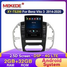 MEKEDE Auto multimedia stereo Für Mercedes Benz Vito 3 W447 2014 2015 2016- 2020 Navigation GPS Unterstützung DVR Carplay SWC WIFI